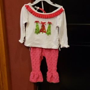 Mudpie Christmas outfit sz 9-12m